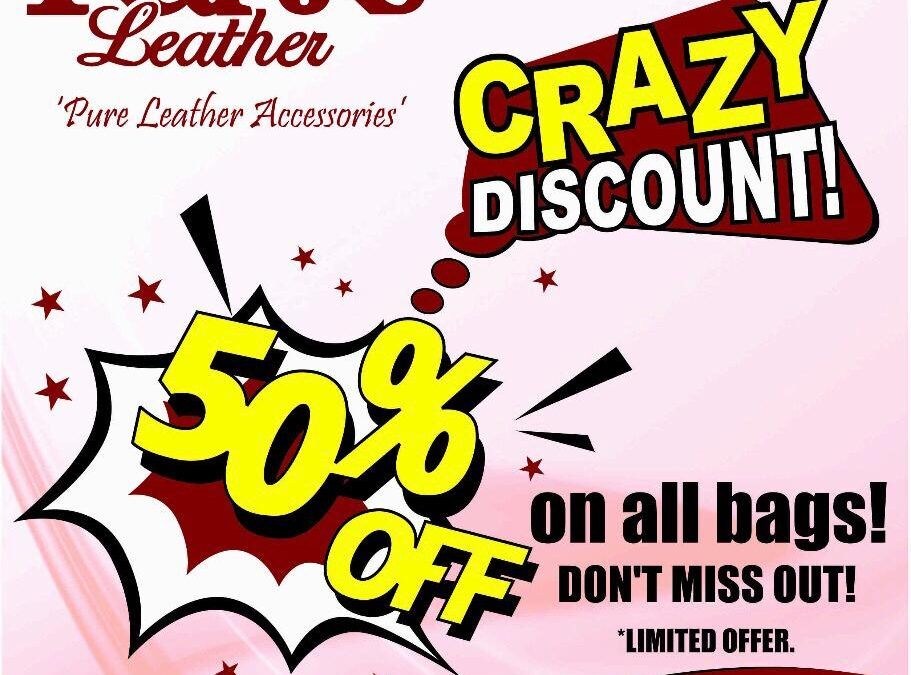 50% Off all bags